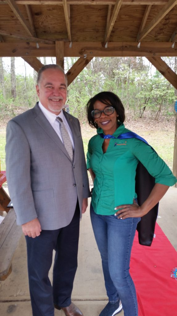 Georgia's State School Superintendent, Richard T. Woods with LIFT2Enrich Founder, Terri Whitmire